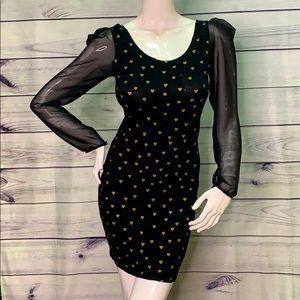 SUGARHILL BOUTIQUE M MOD CLOTH MINI COCKTAIL DRESS
